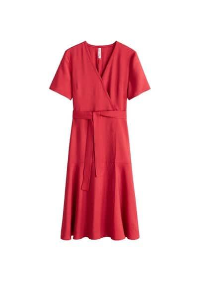 MANGO Textured bow dress