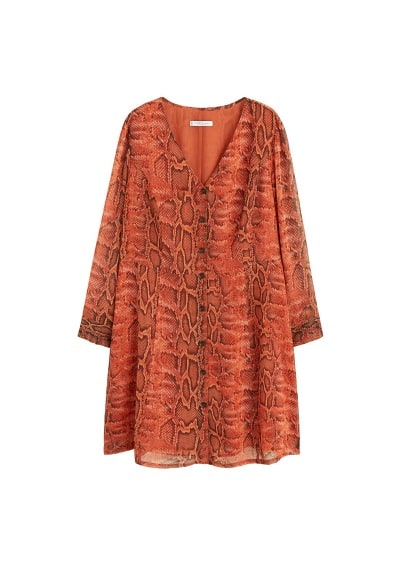 Violeta BY MANGO Snake print chiffon dress