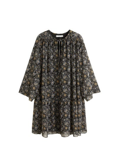 MANGO Flower chiffon dress