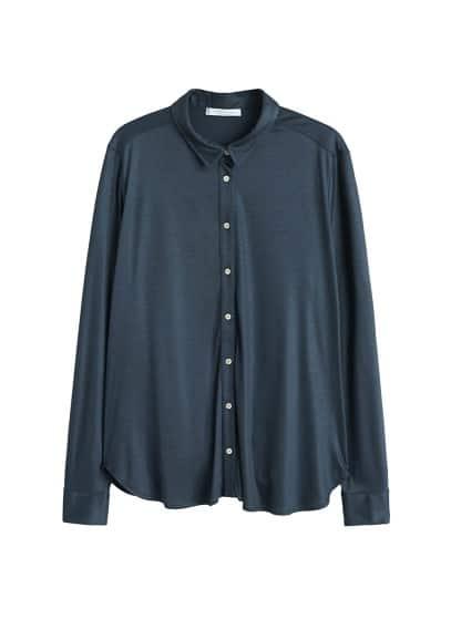 Saten gömlek Lacivert Ürün Resmi
