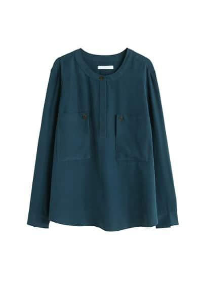Cepli modal bluz Yeşil Ürün Resmi
