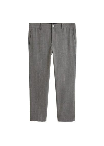 Tebeşir çizgili dar kesim pantolon Açık Kırçıllı Gri Ürün Resmi