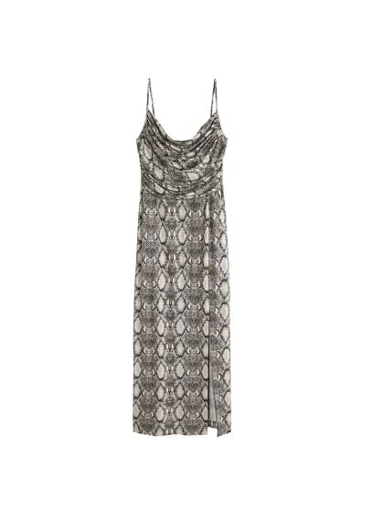 Violeta BY MANGO  Snake print draped dress
