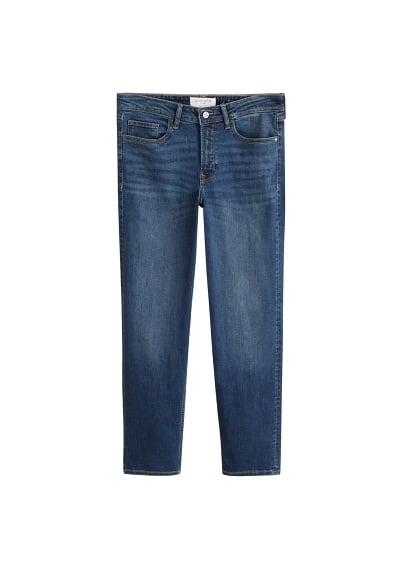 Düz kesim Theresa jean pantolon Koyu Mavi Ürün Resmi