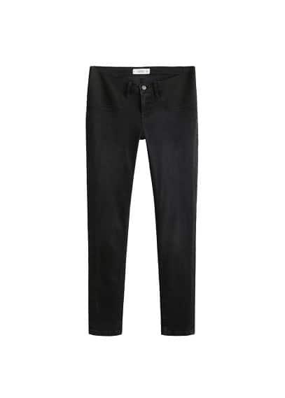 Normal bel jean pantolon Siyah denim Ürün Resmi