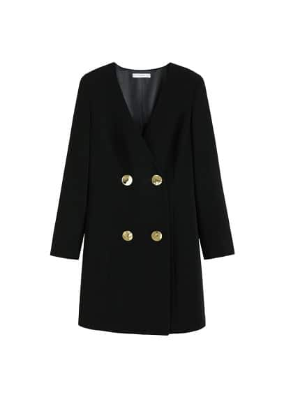Kruvaze kesimli elbise Siyah Ürün Resmi
