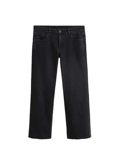 Kısa paçalı Audrey jean pantolon Siyah denim Ürün Resmi