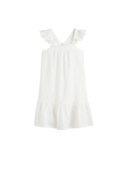 MANGO KIDS Frills embroidered dress