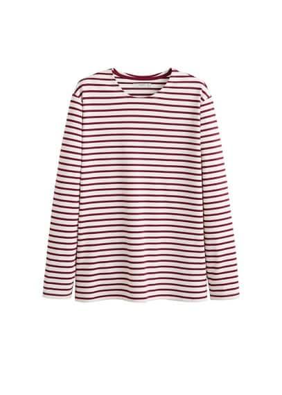 Pamuklu çizgili tişört Lacivert,Bordo Ürün Resmi