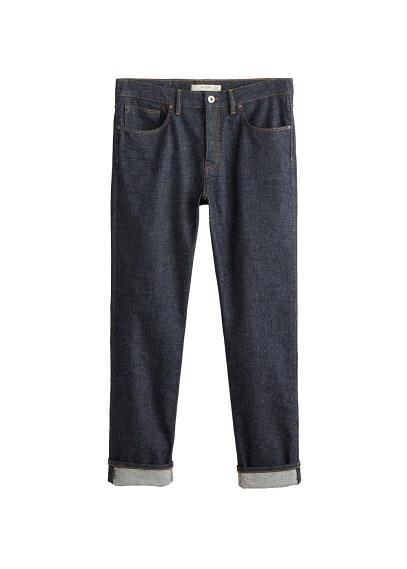 Koyu yıkama regular kesim Steve jean pantolon Mavi Ürün Resmi