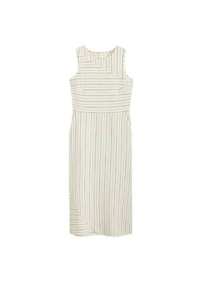 MANGO Mixed striped dress
