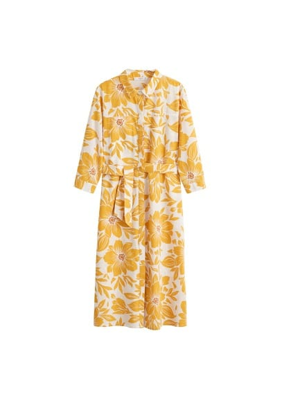 MANGO Floral shirt dress