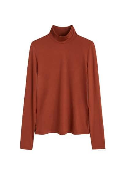 mango - Shirt mit perkins-kragen