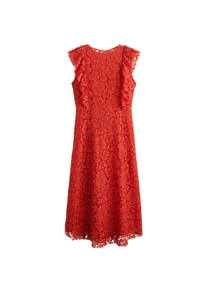 MANGO Lace midi dress