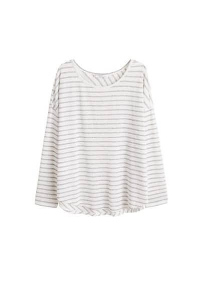 Violeta BY MANGO Striped jersey t-shirt