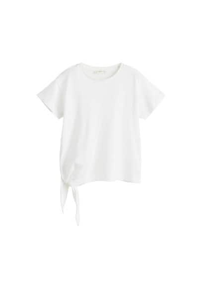 Organik pamuklu düğümlü tişört Siyah,Kırık Beyaz,Sarı,Ha Ürün Resmi