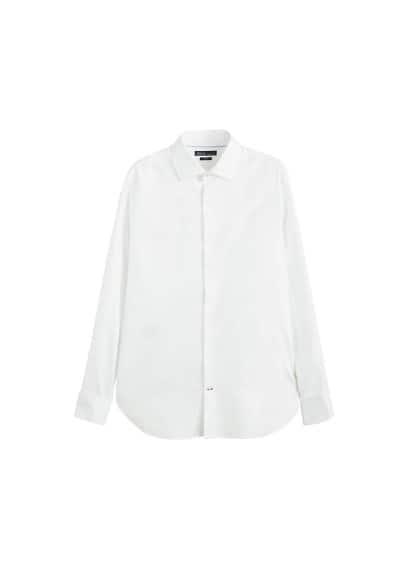 Dar kesim Tailored koton gömlek Beyaz Ürün Resmi