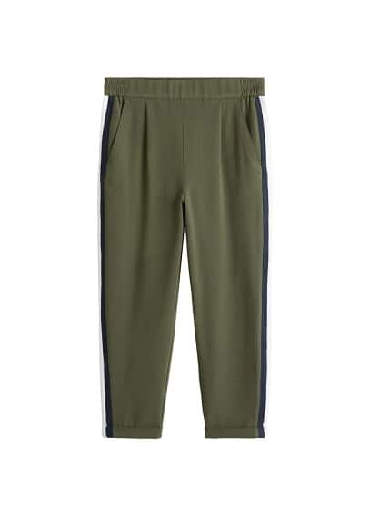 Kontrast parçalı pantolon Lacivert,Haki Renk Ürün Resmi