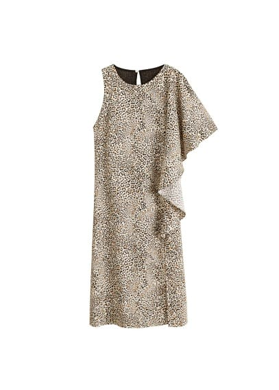 MANGO Leopard midi dress