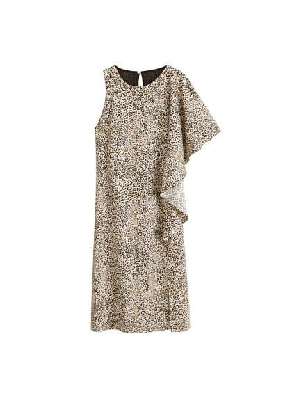 Midi jurk met luipaardprint