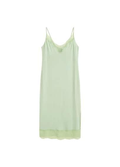 MANGO Satin camisole dress
