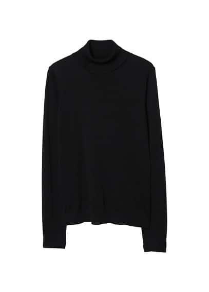 Dik yakalı kazak Siyah,Orta Kırçıllı Gri Ürün Resmi