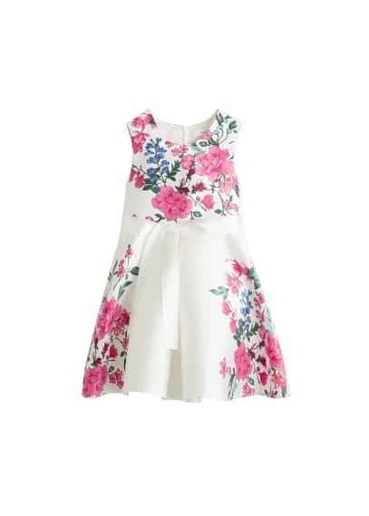 MANGO KIDS Bow floral dress