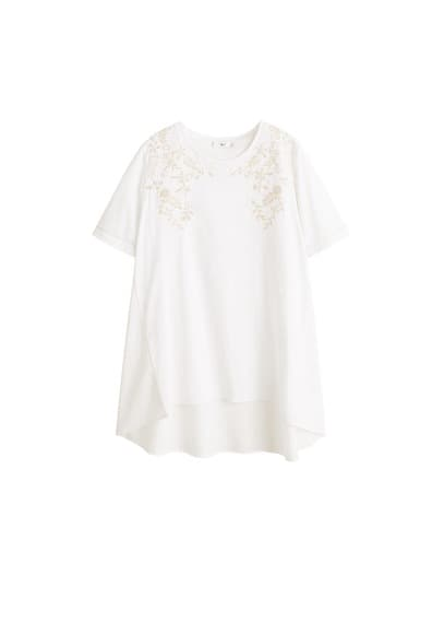 MANGO Embroidered oversize t-shirt