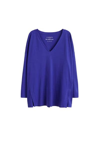 Organik pamuklu tişört Siyah,Koyu mavi Ürün Resmi