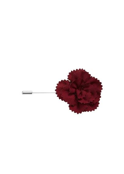 Çiçekli yaka broşu Burgonya Rengi Ürün Resmi