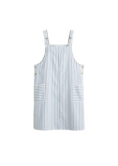MANGO Striped pinafore dress
