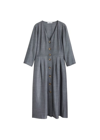 MANGO Buttons herringbone dress
