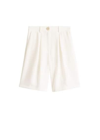 mango - Bermuda-shorts aus kreppstoff