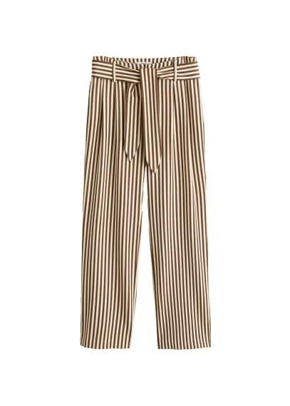 Düz çizgili pantolon Kahverengi Ürün Resmi