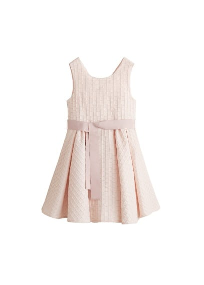 MANGO KIDS Textured bow dress