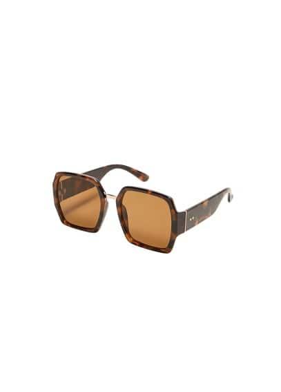 Tortoiseshell retro güneş gözlüğü Çikolata Ürün Resmi