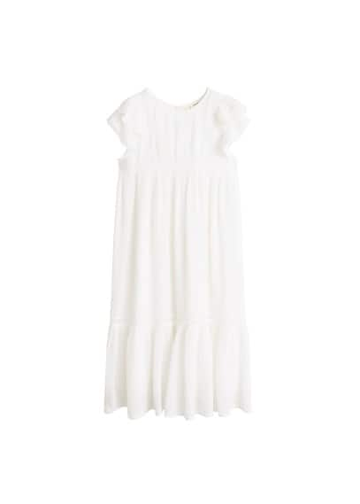 MANGO KIDS Ruffle guipure dress