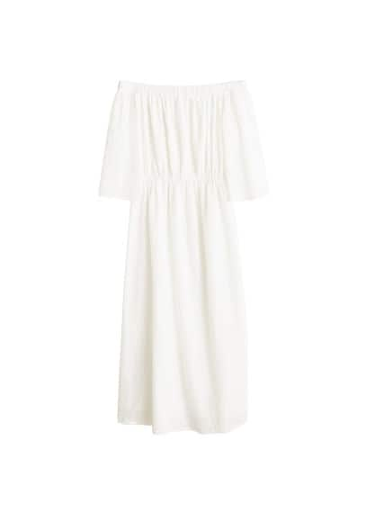 MANGO Broderie anglaise dress