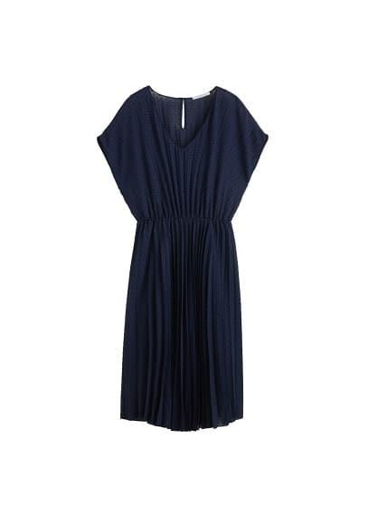 Violeta BY MANGO Plumeti pleated dress