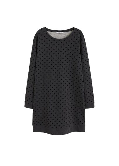Violeta BY MANGO Polka-dots sweatshirt cotton dress