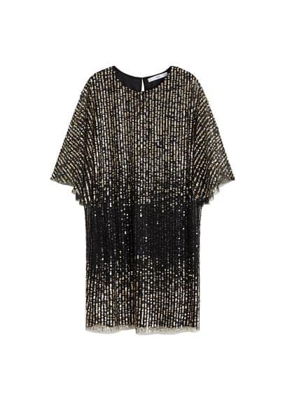 MANGO Sequin tulle dress