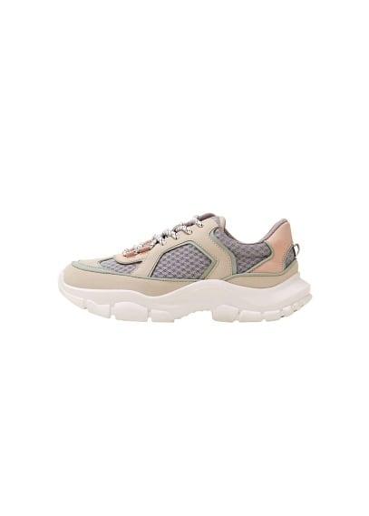mango - Geschnürte plateau-sneakers