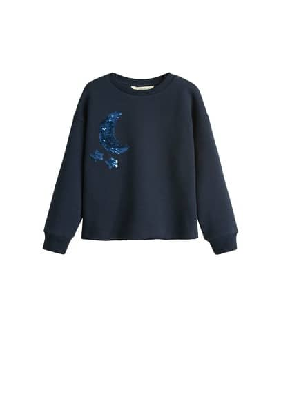 Ters pullu sweatshirt Lacivert Ürün Resmi