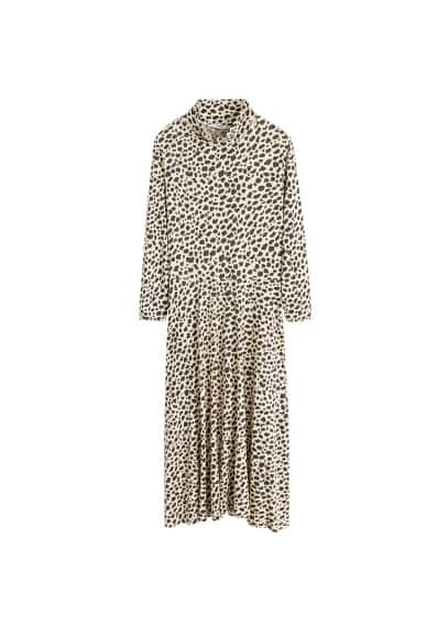 MANGO Animal print dress