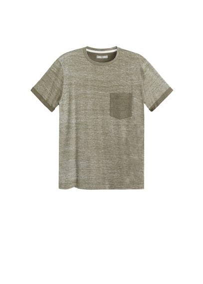 Kırçıllı koton tişört Bordo,Haki Renk Ürün Resmi