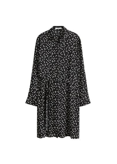 Desenli gömlek elbise Lacivert,Siyah Ürün Resmi