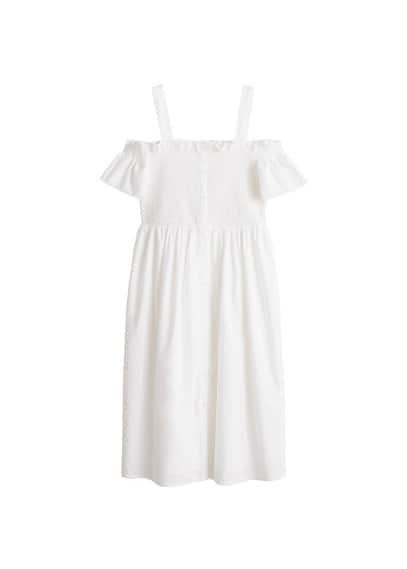 MANGO Cold-shoulder dress