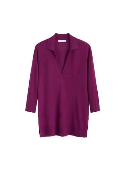 MANGO Fine-knit polo shirt