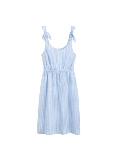 MANGO Gingham check cottoned dress