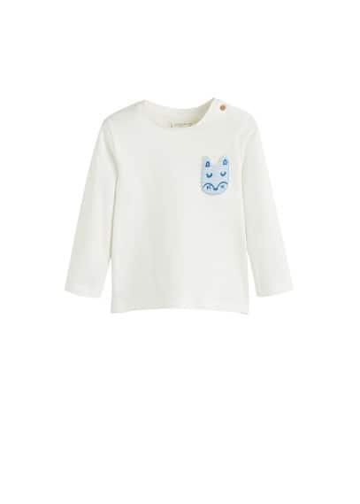 T-shirt coton biologique lapin